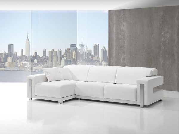 Sofá tapizado piel modelo BINTON