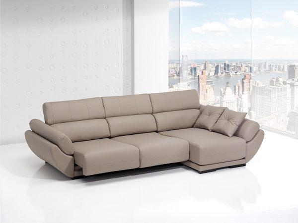 Sofá tapizado piel modelo GÓNDOLA