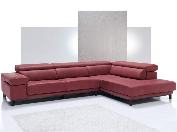 Sofá tapizado piel modelo IRIS