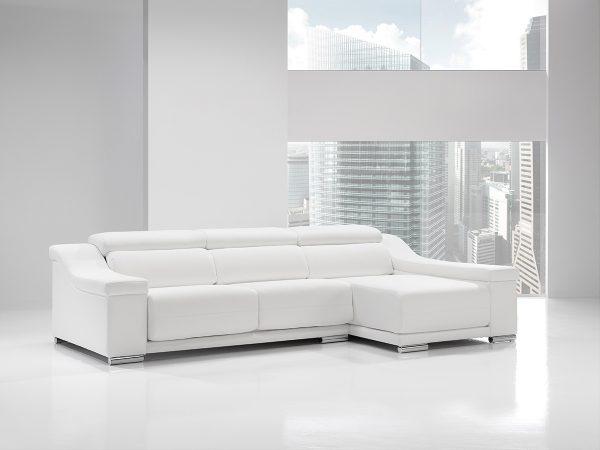 Sofá tapizado piel modelo MICOL