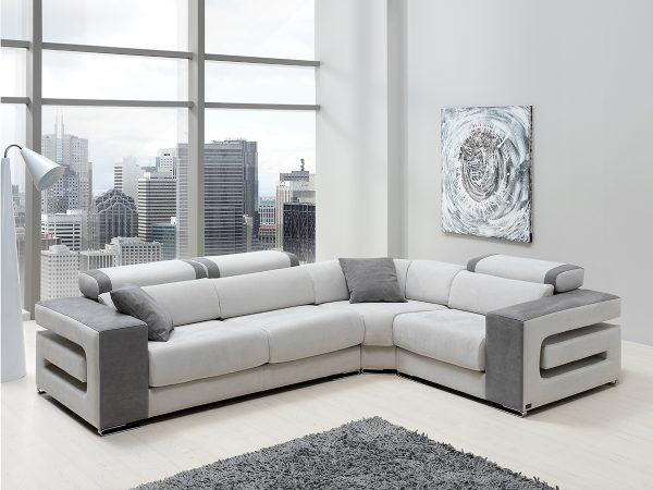 Sofá tapizado piel modelo SOMBRAS