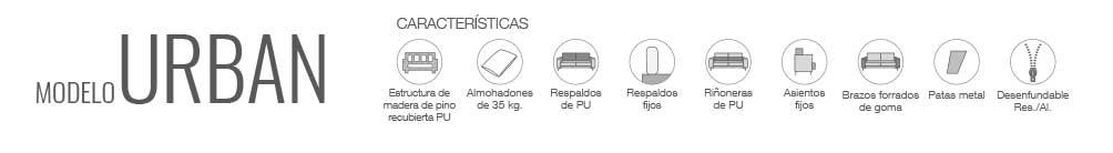 Características sofá modelo Urban