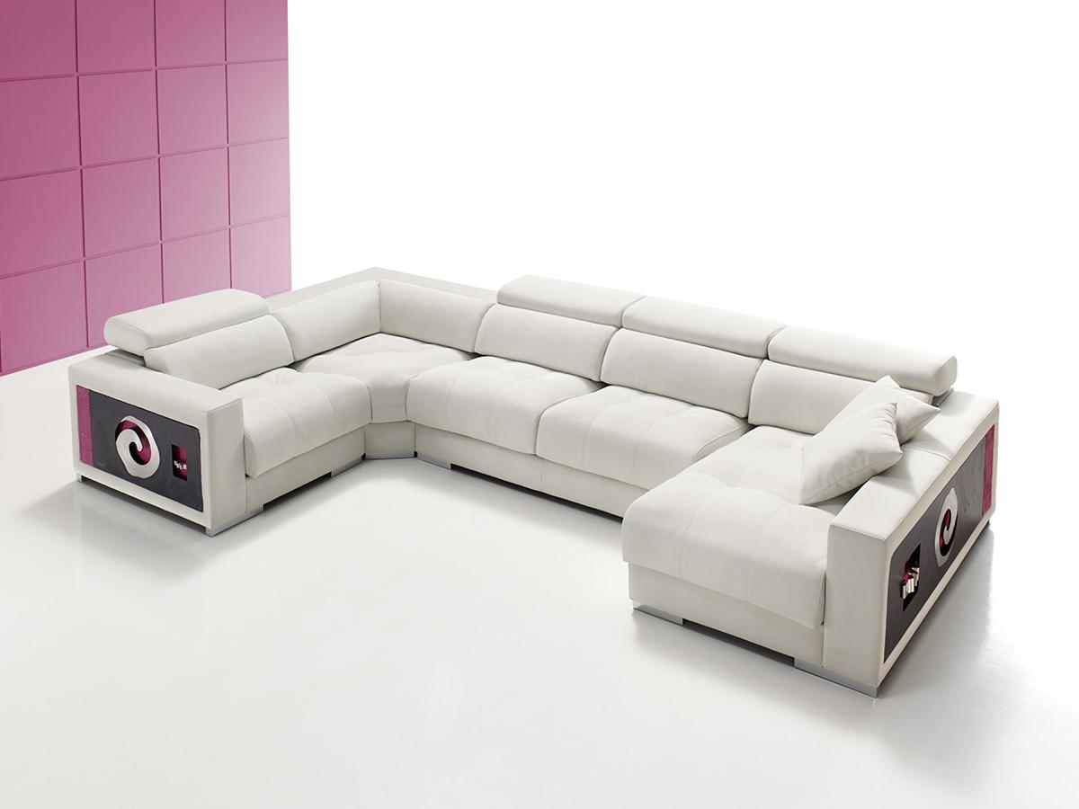 Sofá tapizado piel modelo AIDA-2