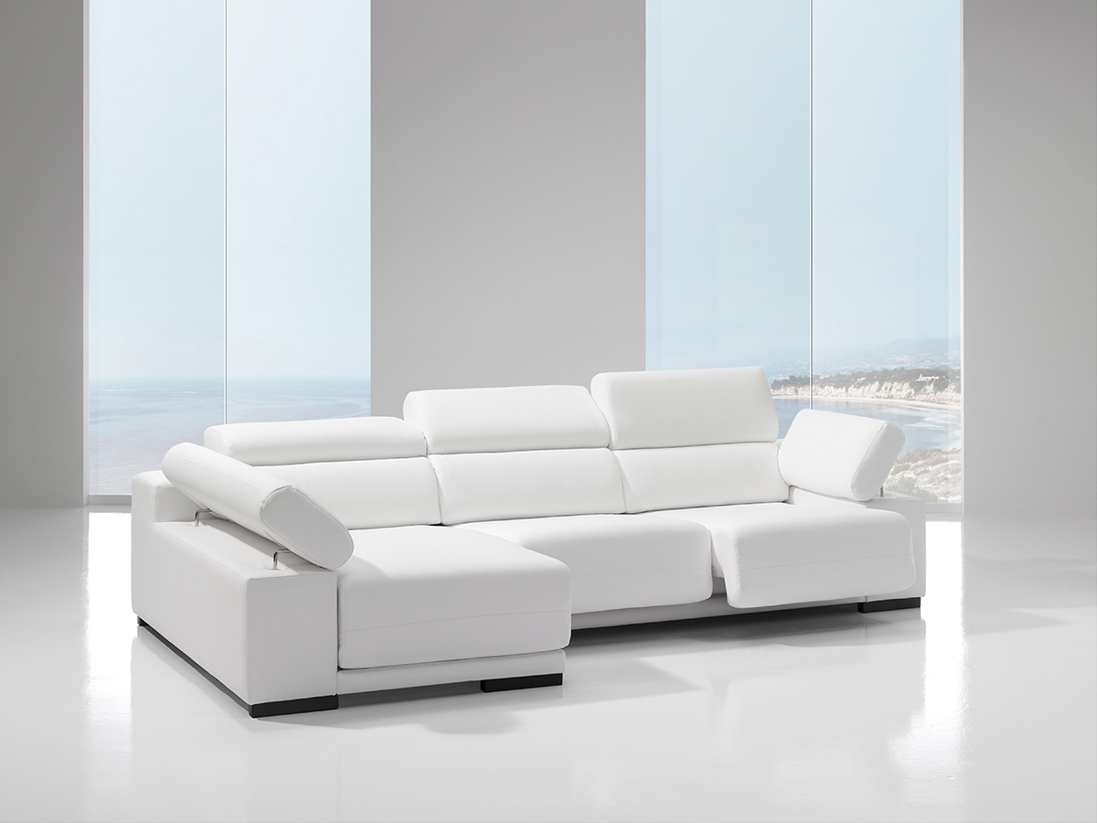 Sofá tapizado piel modelo DESIRÉ-2