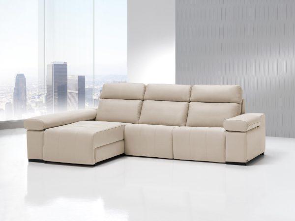 Sofá tapizado piel modelo PISCIS