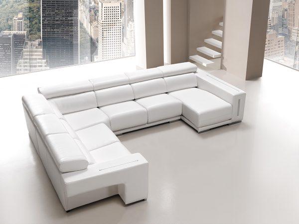 Sofá tapizado piel modelo RINCONERA
