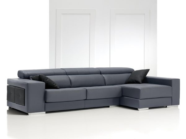 Sofá tapizado piel modelo SAKI