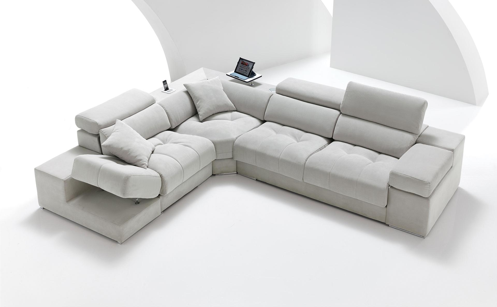 sofás tapizados en tela o piel