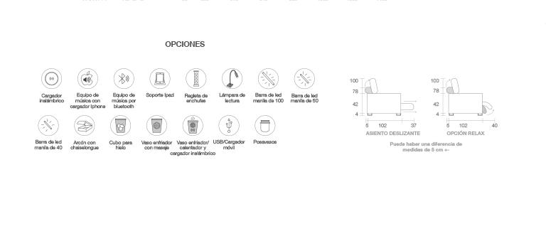 Opciones sofá modelo Decor