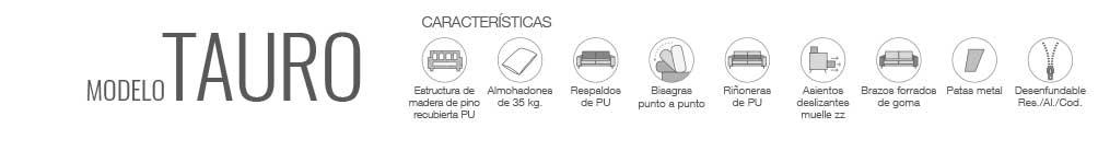 Características sofá Tauro