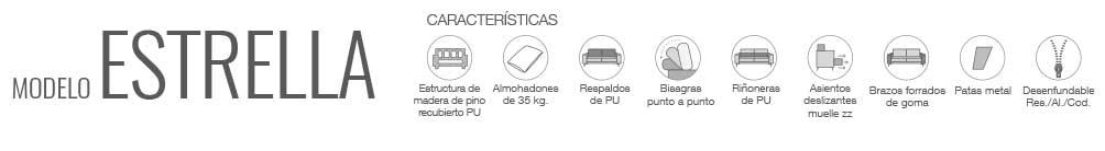 Características sofá Estrella